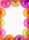 Leeg kader van de kleine ornamenten van kleurenkerstmis stock foto