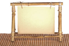 Leeg kader voor een foto van een bamboe Stock Foto's