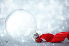Leeg Kerstmisornament stock foto