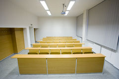 Leeg klaslokaal Royalty-vrije Stock Foto