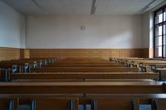 Leeg Klaslokaal op Universiteit Royalty-vrije Stock Afbeelding