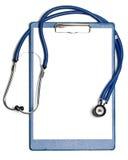 Leeg klembord met stethoscoop Royalty-vrije Stock Afbeelding