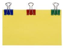 Leeg kleurenaanplakbord Stock Afbeelding
