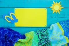Leeg kleurrijk strandteken Royalty-vrije Stock Afbeelding