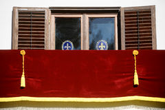 Leeg koninklijk balkon Stock Foto's