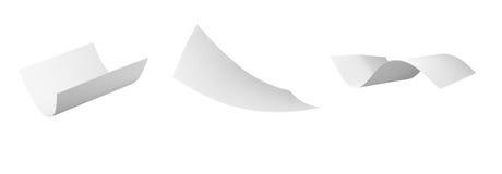 Leeg kruldocument dat in wind vliegt royalty-vrije stock foto