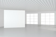 Leeg leeg aanplakbord in wit binnenland het 3d teruggeven Royalty-vrije Stock Fotografie