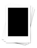 Leeg leeg fotoframe dat op wit wordt geïsoleerdn Royalty-vrije Stock Fotografie