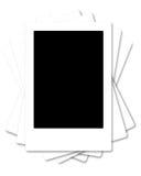 Leeg leeg fotoframe dat op wit wordt geïsoleerdt Stock Foto