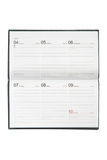 Leeg leeg notitieboekje met kalender Royalty-vrije Stock Fotografie