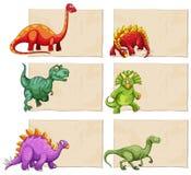 Leeg Malplaatje met Dinosaurussen vector illustratie