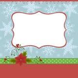 Leeg malplaatje voor de groetenkaart van Kerstmis Stock Fotografie