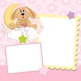Leeg malplaatje voor groetenkaart Stock Afbeelding