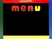 Leeg menu royalty-vrije stock foto's