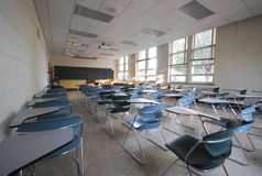 Leeg modern klaslokaal Royalty-vrije Stock Afbeeldingen