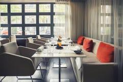 Leeg Nederlands restaurant Stock Afbeeldingen