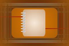 Leeg notitieboekje vector illustratie