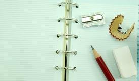 Leeg notitieboekje Stock Fotografie