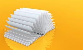 Leeg open boek Royalty-vrije Stock Afbeelding