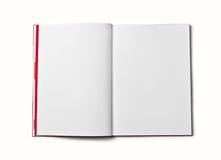 Leeg open boek dat op witte achtergrond wordt geïsoleerde Front View Royalty-vrije Stock Fotografie