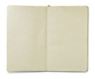 Leeg open notaboek Stock Fotografie