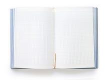 Leeg open notitieboekje met geregelde bladen en referentie Royalty-vrije Stock Afbeelding