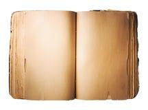 Leeg oud Boek dat op witte achtergrond wordt geïsoleerdl stock afbeelding