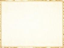 Leeg oud document fotokader met donkere grens. Achtergrond. Royalty-vrije Stock Foto
