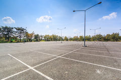 Leeg Parkeerterrein stock foto