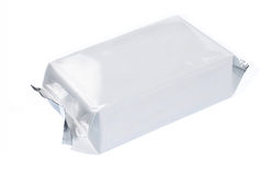 Leeg plastic pak Stock Afbeelding