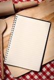 Leeg receptenboek Stock Afbeeldingen