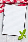 Leeg receptenboek Stock Foto's