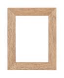 Leeg houten fotokader Stock Afbeeldingen