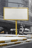 Leeg reclameaanplakbord op stadsstraat Royalty-vrije Stock Foto