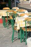 Leeg restaurant stock afbeeldingen