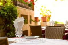 Leeg restaurant stock afbeelding