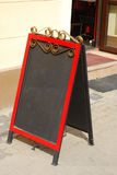 Leeg restaurant noticeboard stock foto's