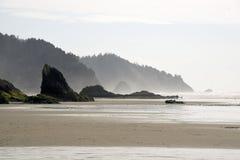 Leeg Rocky Beach Lamdscape Royalty-vrije Stock Foto