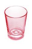 Leeg rood glas Royalty-vrije Stock Foto's