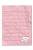 Leeg roze brievendocument op witte achtergrond Royalty-vrije Stock Foto's