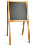 Leeg schoolbord op een witte achtergrond Stock Fotografie