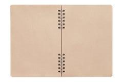 Leeg spiraalvormig bruin notitieboekje Royalty-vrije Stock Afbeelding