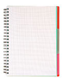 Leeg spiraalvormig notitieboekje Royalty-vrije Stock Afbeeldingen