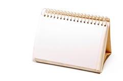 Leeg spiraalvormig notitieboekje stock afbeeldingen