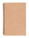 Leeg spiraalvormig notitieboekje Stock Foto's