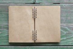 Leeg spiraalvormig notitieboekje Royalty-vrije Stock Foto