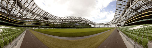 Leeg stadion Aviva Stock Foto's