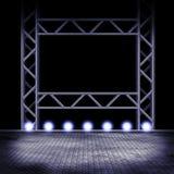 Leeg stadium met lichten Stock Foto