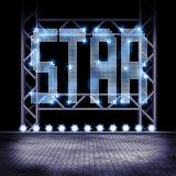 Leeg stadium met sterlichten Royalty-vrije Stock Afbeeldingen