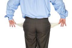 Leeg standhouden van de zakenman stock foto